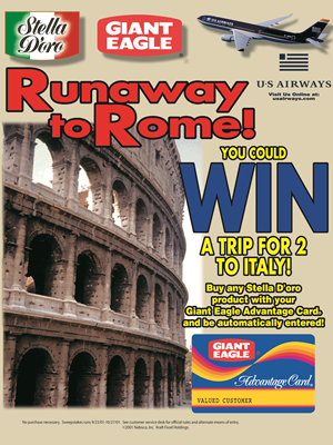 Trip to Rome Sweepstakes